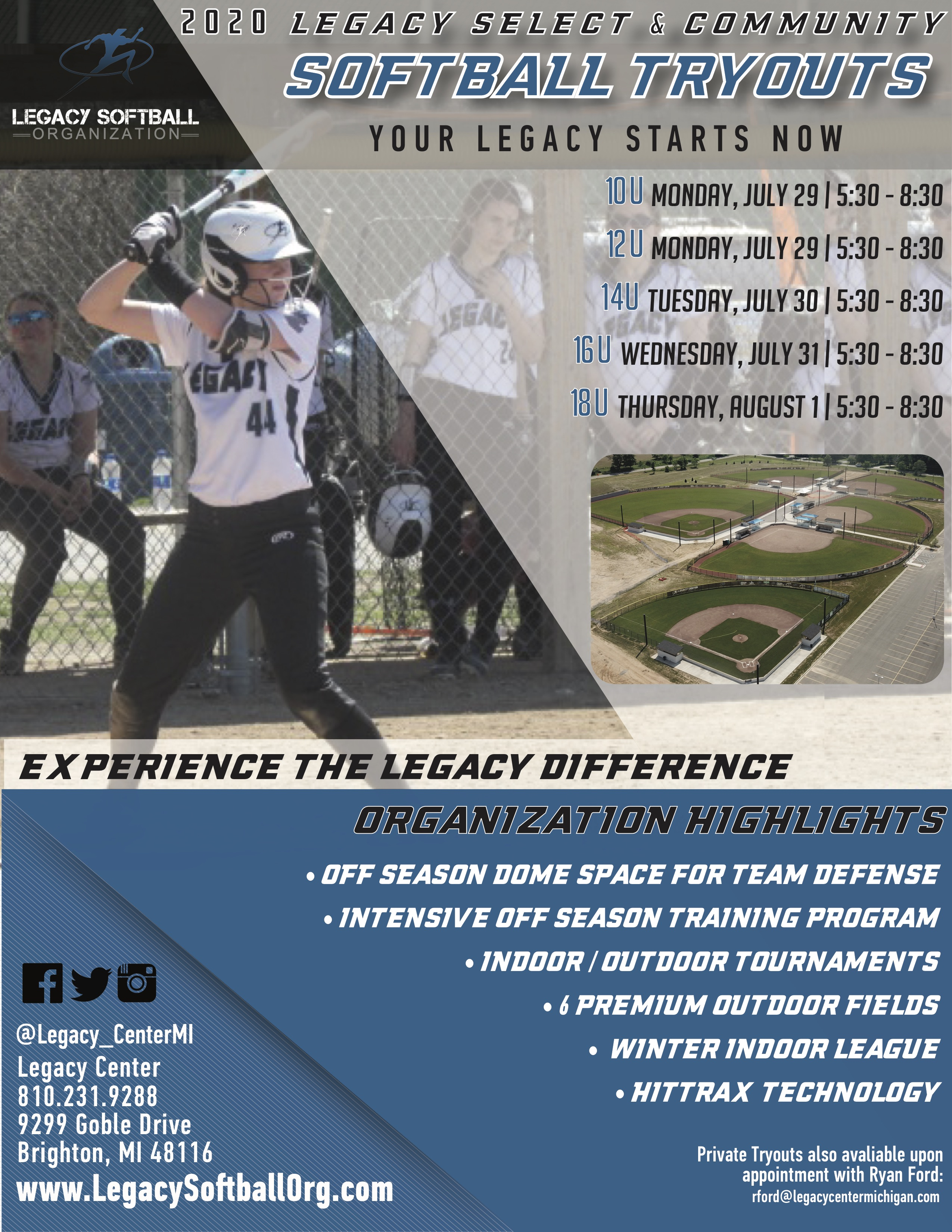 Baseball Tryouts | Legacy Center Sports Complex